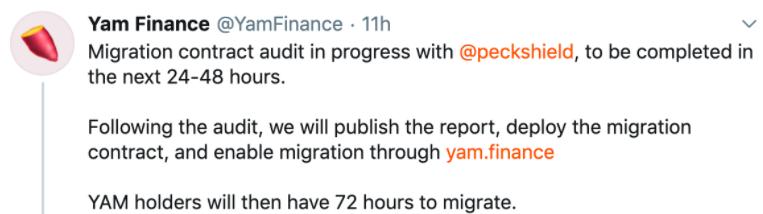 Yam Finance即将回归,代币YAM日内最高上涨超90%