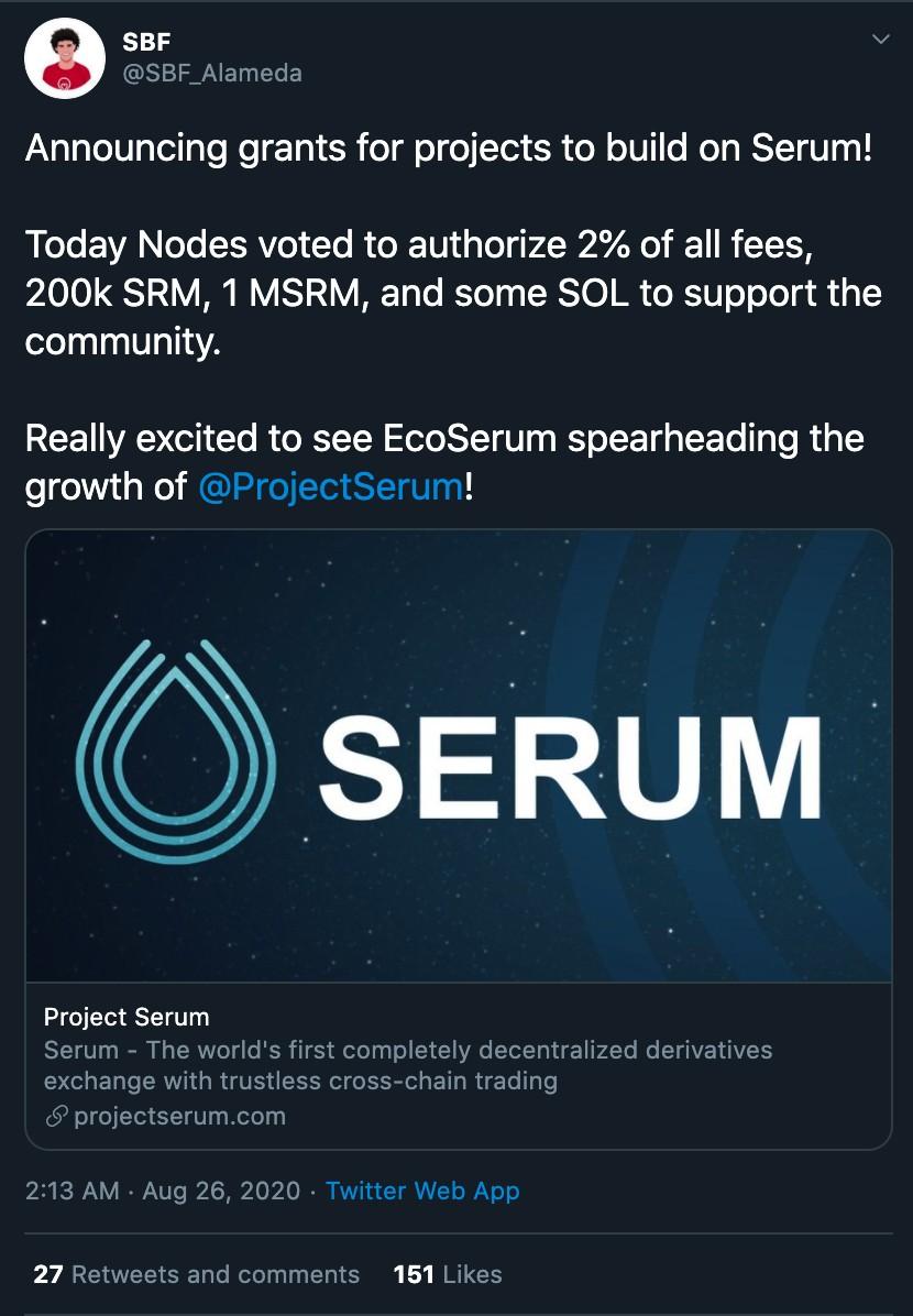 从FTX Uniswap指数到DeFi布局:Serum的前瞻性